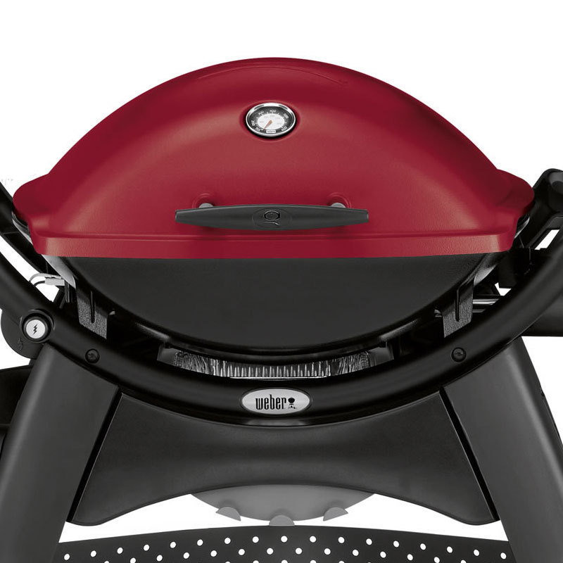 weber q 2200 station gasgrill maroon modell 2017 210379 bbq entertainer. Black Bedroom Furniture Sets. Home Design Ideas