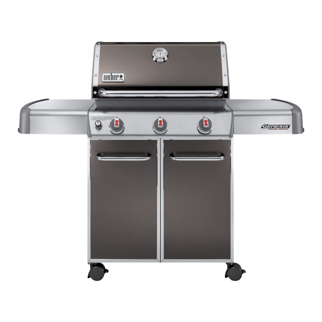 weber gasgrill genesis e 310 smoke grey bbq entertainer. Black Bedroom Furniture Sets. Home Design Ideas